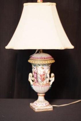 Capo Di Monte Porcelain Lamp