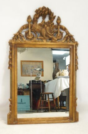 Italianate Ornate Carved Polychrome Painted Mirror