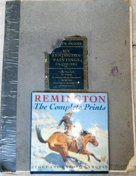 Portfolio Of Remington Prints In Folio W/ Book