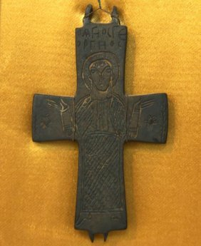 Outstanding Mounted Iron Byzantine (900ad) Cross