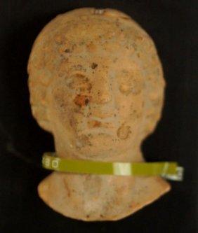 Greek Terra Cotta Head - Calabria 4thc. Bc