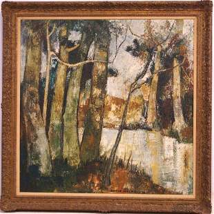 Andre Minaux (1923-1986) oil on canvas
