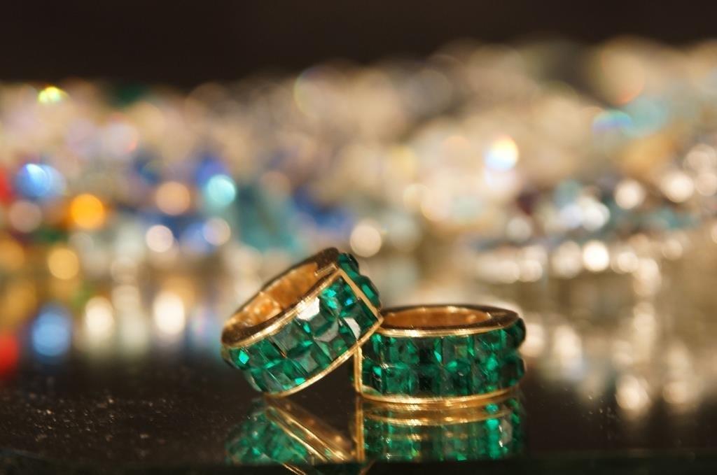 Multi colored rhinestone jewelry - aurora, - 10
