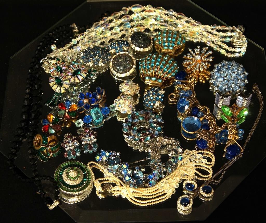 Multi colored rhinestone jewelry - aurora,