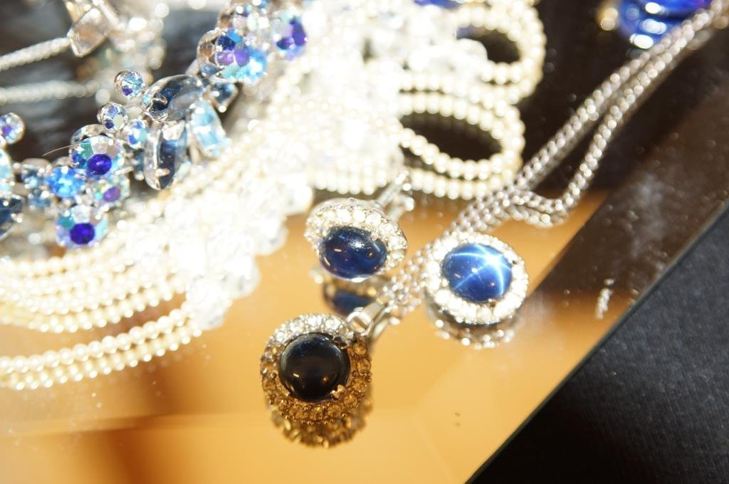 Multi colored rhinestone jewelry - aurora, - 2