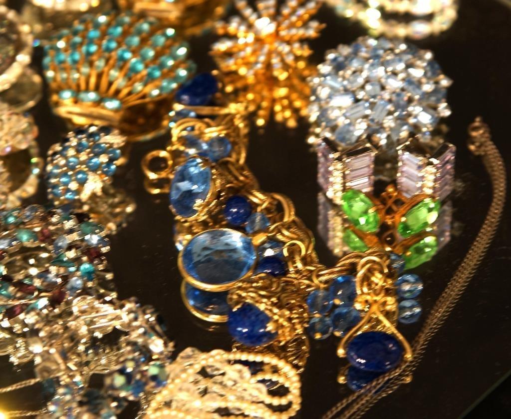 Multi colored rhinestone jewelry - aurora, - 3