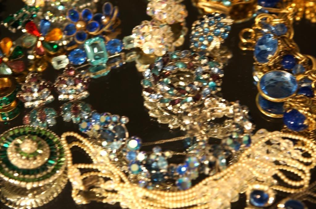 Multi colored rhinestone jewelry - aurora, - 4
