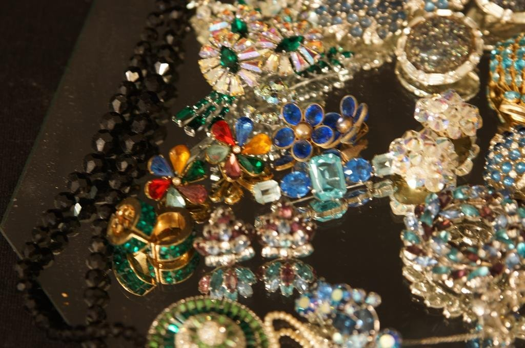 Multi colored rhinestone jewelry - aurora, - 5