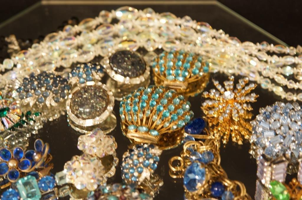Multi colored rhinestone jewelry - aurora, - 6