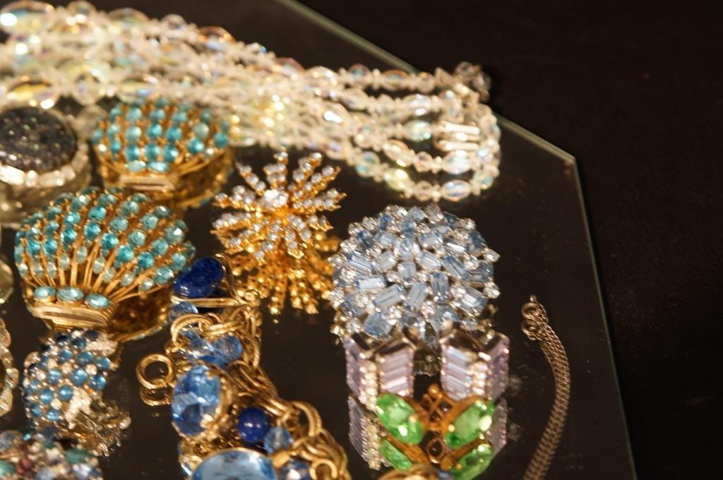 Multi colored rhinestone jewelry - aurora, - 7