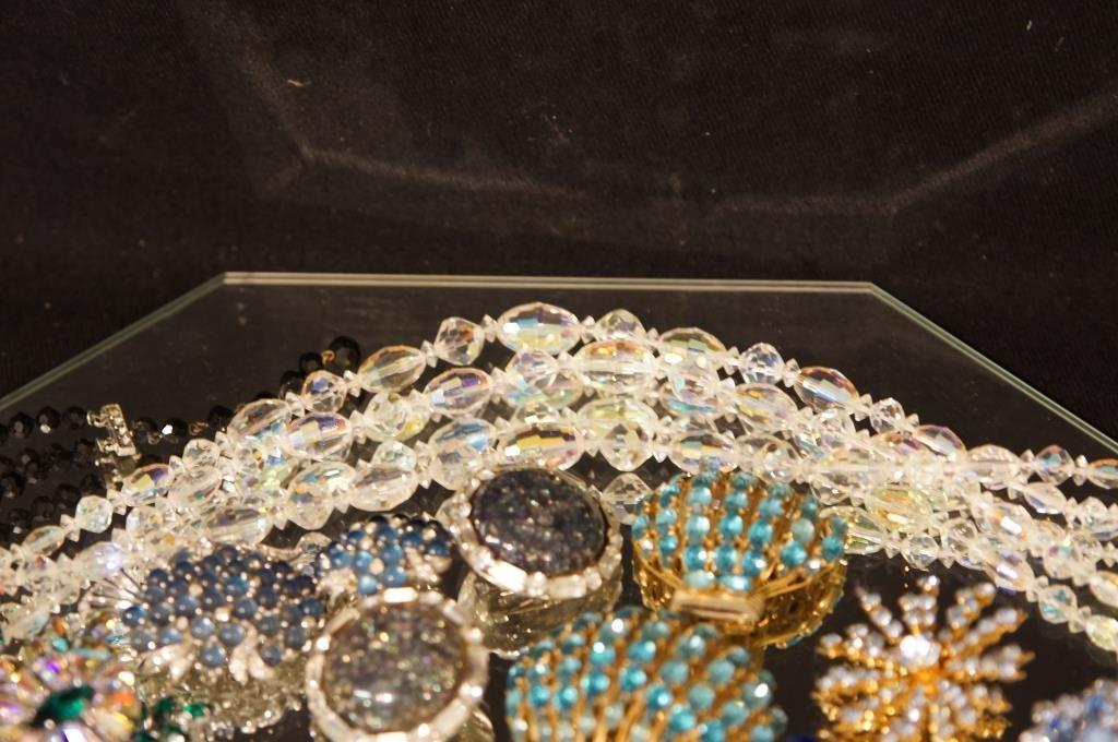 Multi colored rhinestone jewelry - aurora, - 8