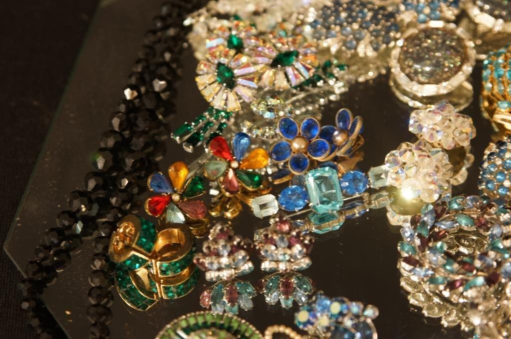 Multi colored rhinestone jewelry - aurora, - 9