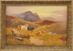 Charles W. Oswald (fl. 1890-1899) oil on Canvas