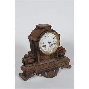 Cast Iron Mantle Clock