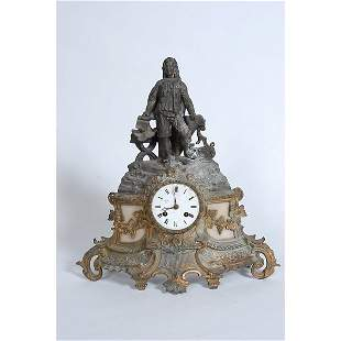 Victorian Cast Iron Mantle Clock