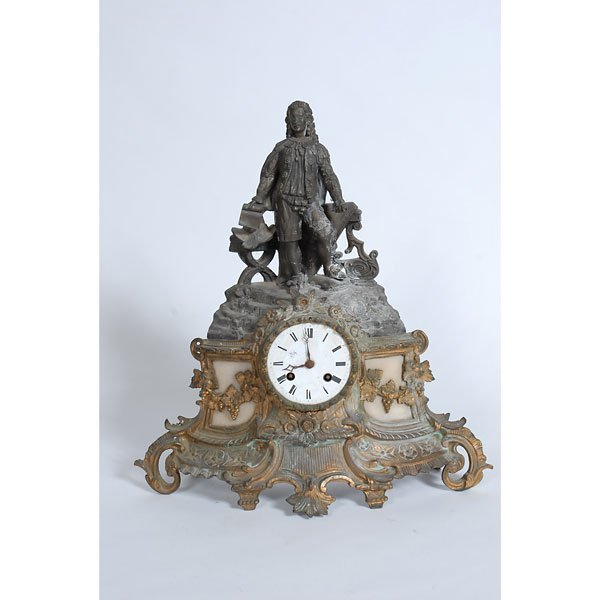 3008: Victorian Cast Iron Mantle Clock