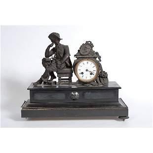 New England Soldier Pondering Mantle Clock