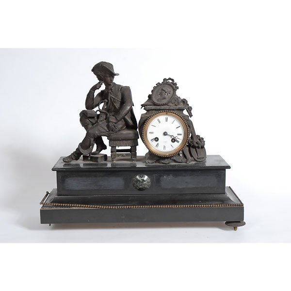 3010: New England Soldier Pondering Mantle Clock