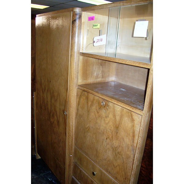 3015: Antique Art Deco Armoire