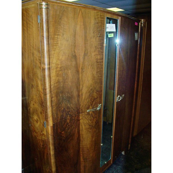 3016: Antique Art Deco Armoire
