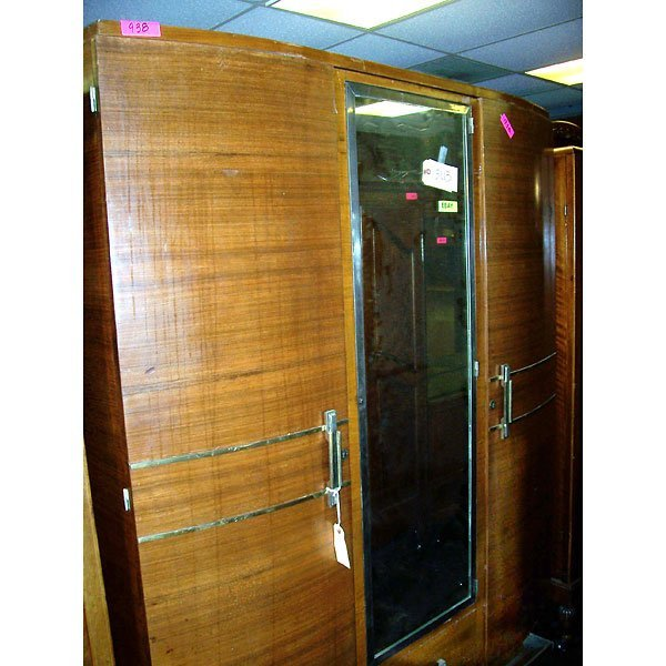 3020: Antique Art Deco Armoire