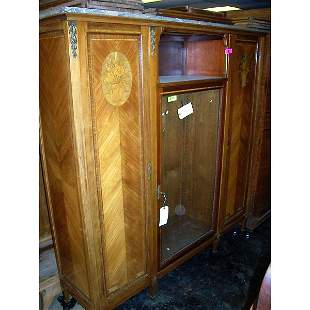 Antique Carved inlaid Armoire and marble top