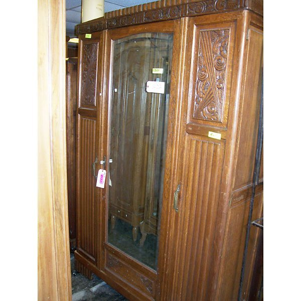 3024: Antique Hand Carved Armoire