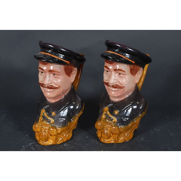 4001: Set of 2 ceramic captain pitcher