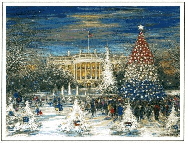 4: Christmas Card Bush Presidential Memorabilia UACC