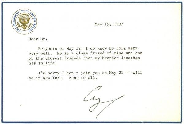 6: George Bush Letter Signed UACC PADA