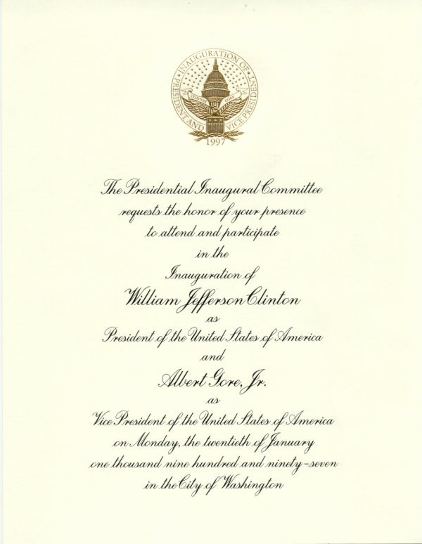 7: [Bill] [Clinton] Presidential Memorabilia UACC PADA
