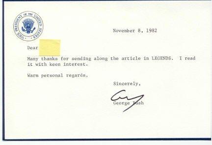 9: George Bush Letter Signed UACC PADA