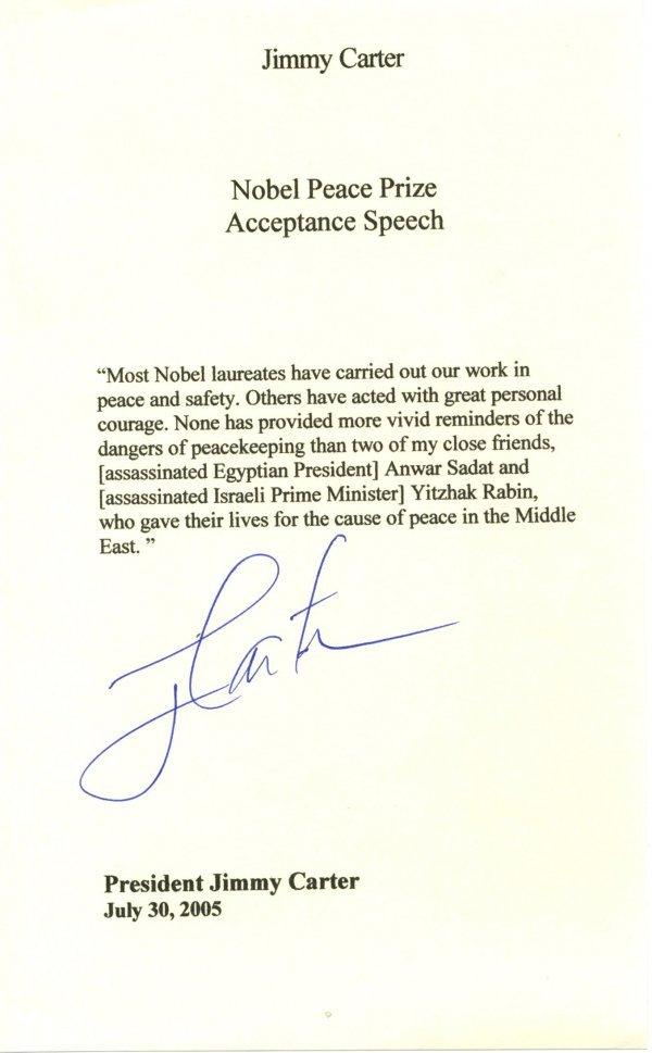 12: Jimmy Carter Letter Signed UACC PADA