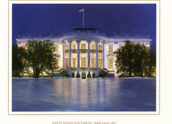 14: Christmas Card [Clinton] Presidential Memorabilia U