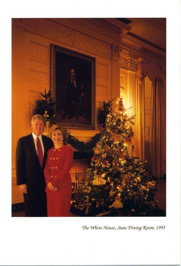 15: Christmas Card [Clinton] Presidential Memorabilia U
