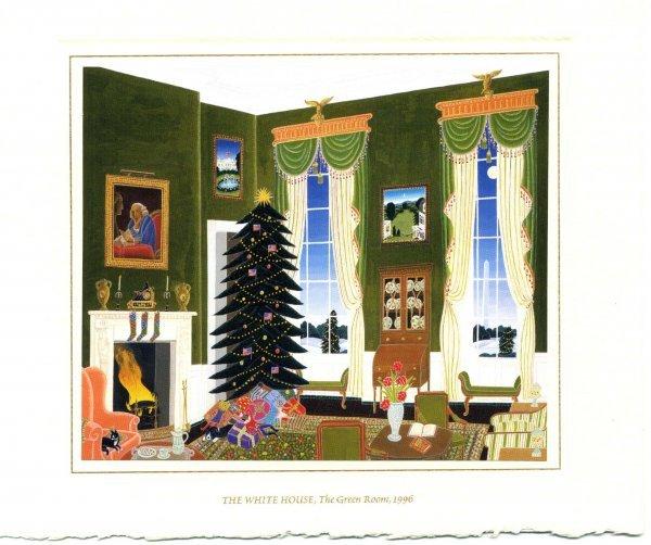 19: Clinton Christmas Card Presidential Memorabilia