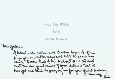 22: Bill Clinton Autograph Letter Signed UACC PADA