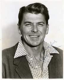 105A: Ronald Reagan Signed Photo UACC PADA