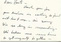 434: Marlon Brando Autograph Letter Signed UACC PADA