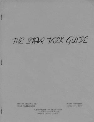 438: 1967 Star Trek Writer's Guide Kirk, Spock McCoy
