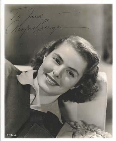 552: Ingrid Bergman Book Signed UACC PADA