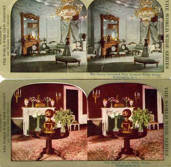 1028: Stereoview  White House  19th Century Photo UACC