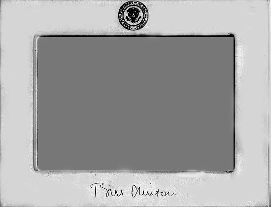 1042: Clinton Presidential Gift  Engraved Frame UACC PA