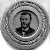 1200: Grant ferrotype token for the 1868 Presidential E