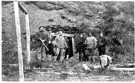 1256: Wild West Armed Coal Miners Real Photograph Postc