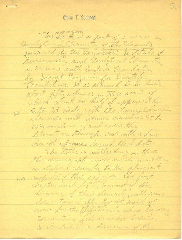 1394: Glenn  Seaborg  Autograph Letter Signed UACC PADA