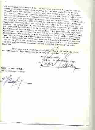 Pearl Bailey Document Signed UACC PADA