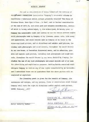 Stanley Kramer Document Signed UACC PADA