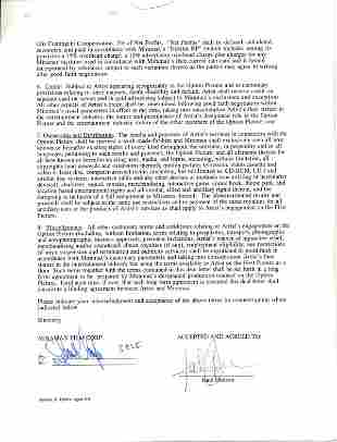 Kate Hudson Document Signed UACC PADA