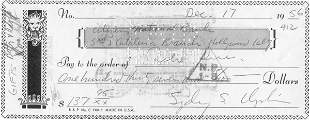 Sidney Chaplin Signed Check UACC PADA